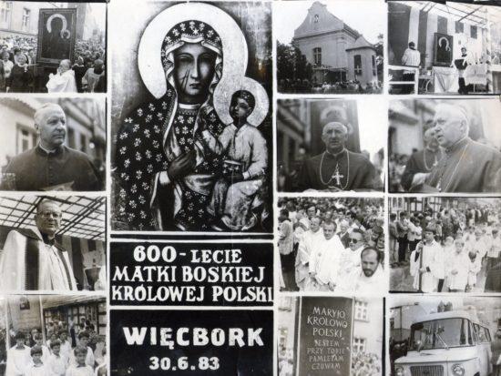 Przywitanie Królowej Polski w Więcborku 30. 06.1983 lat temu przez mieszkańców Więcborka w którym uczestniczyłem jako ministrant więcborskiego kościoła - Tomasz Roman Bracka