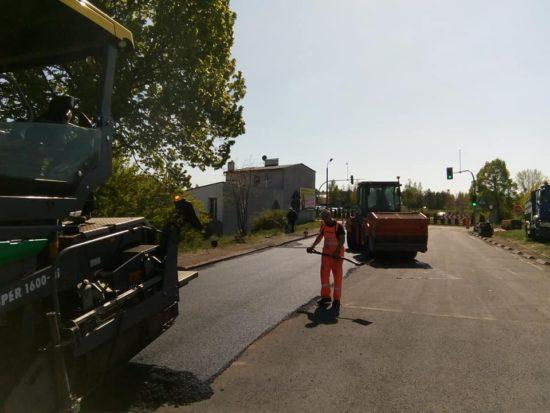 Dobiega końca remont części ulicy Dworcowej w Więcborku drogi kategorii gminnej o co zabiegałem skutecznie od wielu lat w WINB Bydgoszcz - foto Tomasz Roman Bracka