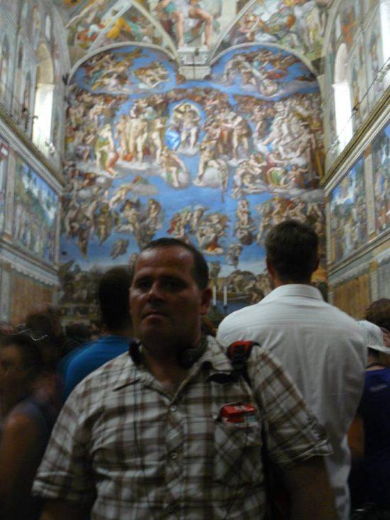 Tomasz Roman Bracka w pałacu papieskim Jana Pawła II w Watykanie