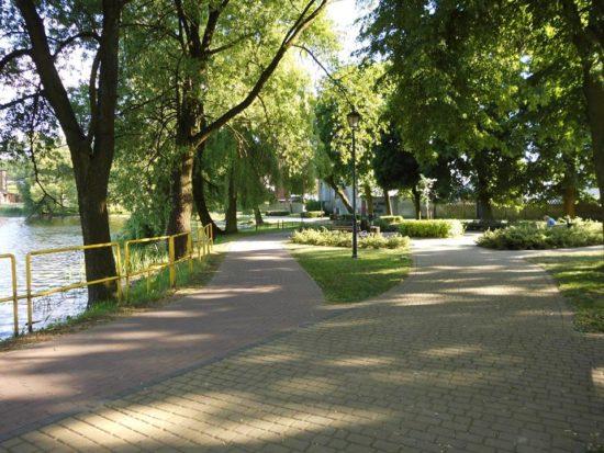 Nowa promenada w Więcborku przy jeziorze więcborskim, to również efekt mojej skutecznej walki. foto Tomasz Roman Bracka