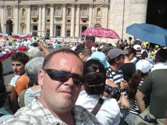 Audiencji generalna na Placu Świętego Piotra w Watykanie z moim udziałem.