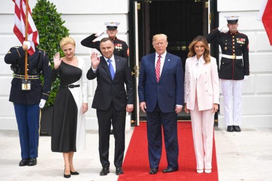 Wizyta polskiej pary prezydenckiej w USA / Źródło: PAP / Radek Pietruszka
