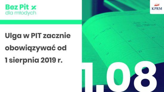 Ulga #BezPITdlaMłodych do 26 roku życia zacznie obowiązywać od 1 sierpnia 2019 r. - Tomasz Roman Bracka