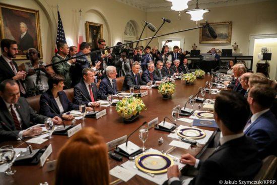 🇵🇱🇺🇸 Rozmowy plenarne pod przewodnictwem Prezydentów @AndrzejDuda i @realDonaldTrump