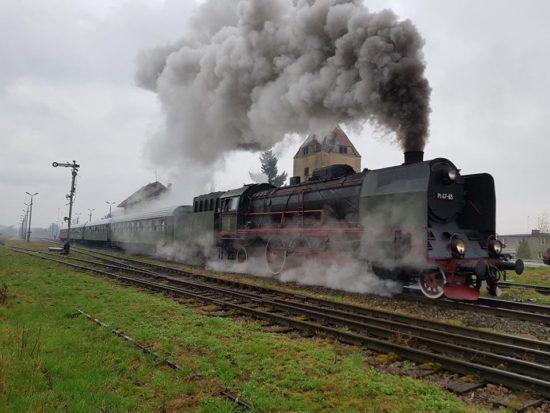 Stacja PKP Więcbork i parowóz 16,04.2018 r.