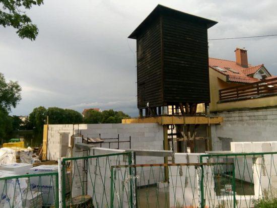 Trwa budowa siedziby Krajeńskiego Parku Krajobrazowego w Więcborku - foto Tomasz Roman Bracka