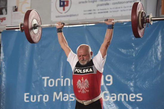 Rekord Świata mieszkańca Więcborka Henryka Dueskaua na Mistrzostwach Europy Torino 2019
