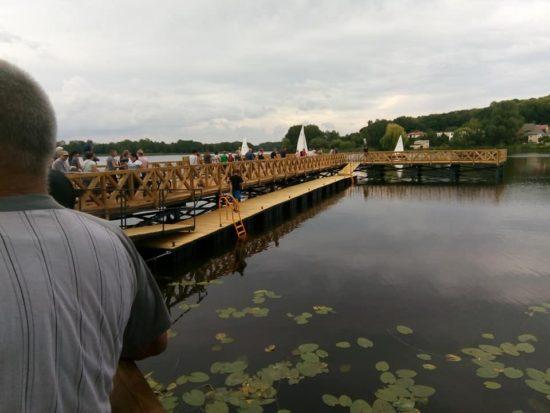 Więcborskie molo przy Promenadzie jeziora więcborskiego uroczyście otwarte - foto Tomasz Roman Bracka
