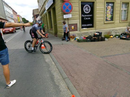 Triathlon Kujavia na ulicach Więcborka. foto Tomasz Roman Bracka