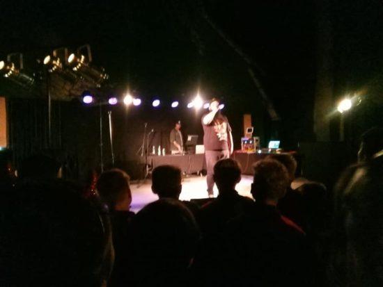 Zeus, Zaber i Lolu czyli gwiazdy hiphopu na scenie amfiteatru w Więcborku. foto Tomasz Roman Bracka