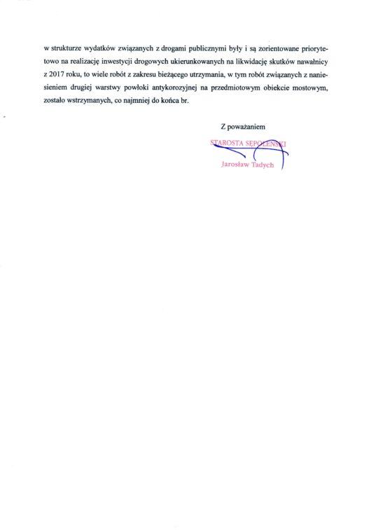 Starosta odpowiada gazecie więcborskiej w sprawie inwestycji drogowych w gminie Więcbork w 2019 r. - Tomasz Roman Bracka
