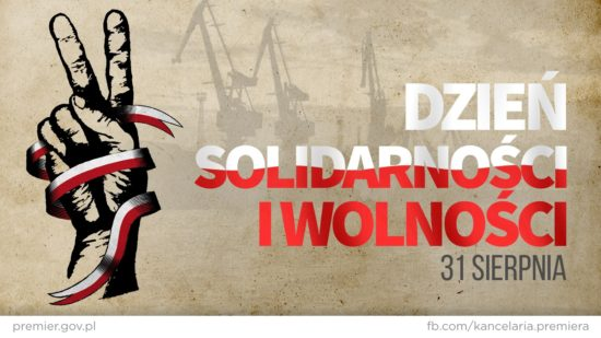 """31 sierpnia trzydziesta dziewiąta rocznica utworzenia NSZZ """"Solidarność"""" Tego dnia przypada święto państwowe Dzień Solidarności i Wolności. Tomasz Roman Bracka"""