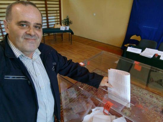 Moje dzisiejsze głosowani wwyborach parlamentarnych wWięcborku z96 letnim kombatantem sybirakiem zWięcborka