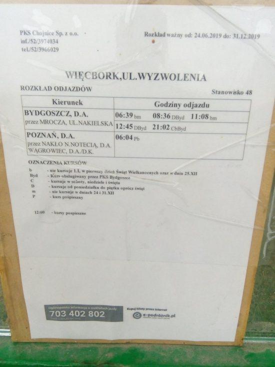 Co za paranoja PKS z Bydgoszczy do Mroczy 3o autobusów, a do oddalonego od Mroczy o ponad 10 km większego Więcborka 6 autobusów z Bydgoszczy i do Bydgoszczy.