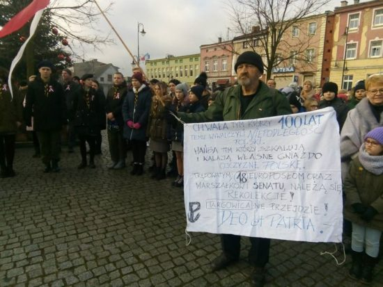 Dzisiejsze uroczystości miejskie 100 rocznicy odzyskania niepodległości przez prezydenckie miasto Więcbork co nastąpiło 23 stycznia 1920 r. - foto Tomasz Roman Bracka