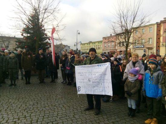 Dzisiejsze uroczystości miejskie 100 rocznicy odzyskania niepodległości przez prezydenckie miasto Więcbork co nastąpiło 23 stycznia 1920 r.