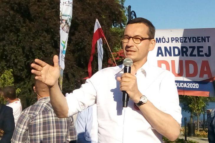 Premier RP Mateusz Morawiecki w Więcborku foto Tomasz Roman Bracka