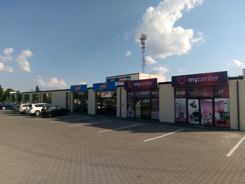 Nowe centrum handlowe wWięcborku przy ul.Gdańskiej.