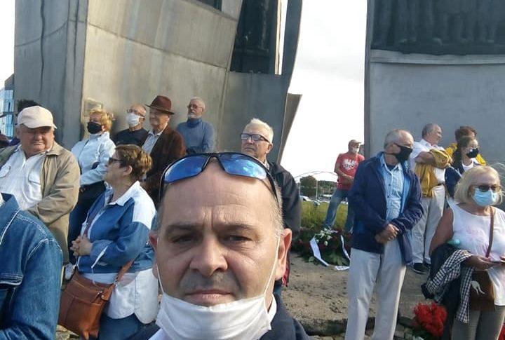 Prezydent Duda, Premier Morawiecki Marszałek Witek i ministrowie i oczywiście ja na jubileuszu 40 lat Solidarności w w Gdańsku pozdrawiam Tomasz Roman Bracka