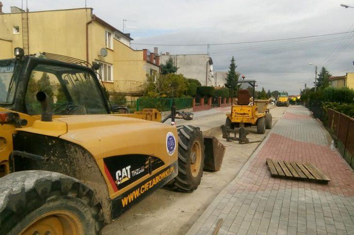 Przebudowa połowy ul Słonecznej w Więcborku dobiega końca - foto Tomasz Roman Bracka