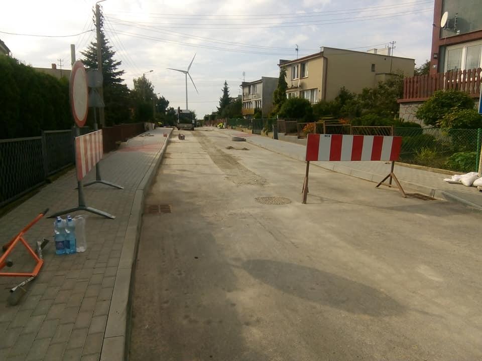 Przebudowa połowy ul Słonecznej wWięcborku dobiega końca - foto Tomasz Roman Bracka