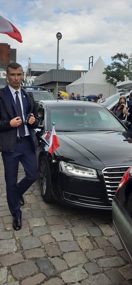 Prezydent Duda, Premier Morawiecki Marszałek Witek iministrowie ioczywiście ja najubileuszu 40 lat Solidarności wwGdańsku pozdrawiam Tomasz Roman Bracka