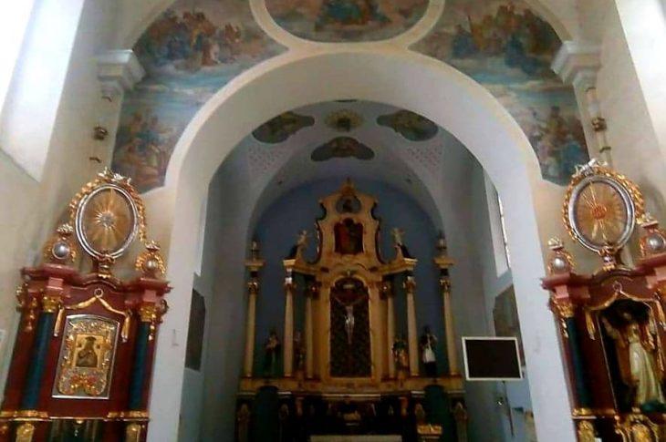 Dobiegł końca pierwszy etap prac malarskich z renowacją fresków w kościele katolickim w Więcborku - foto Tomasz Roman Bracka