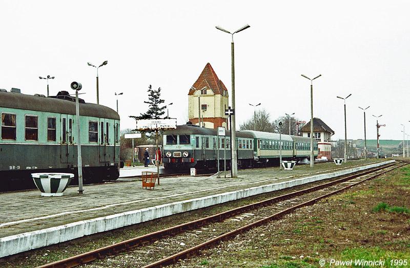 Stacja PKP Więcbork 1997 r, - Tomasz Roman Bracka