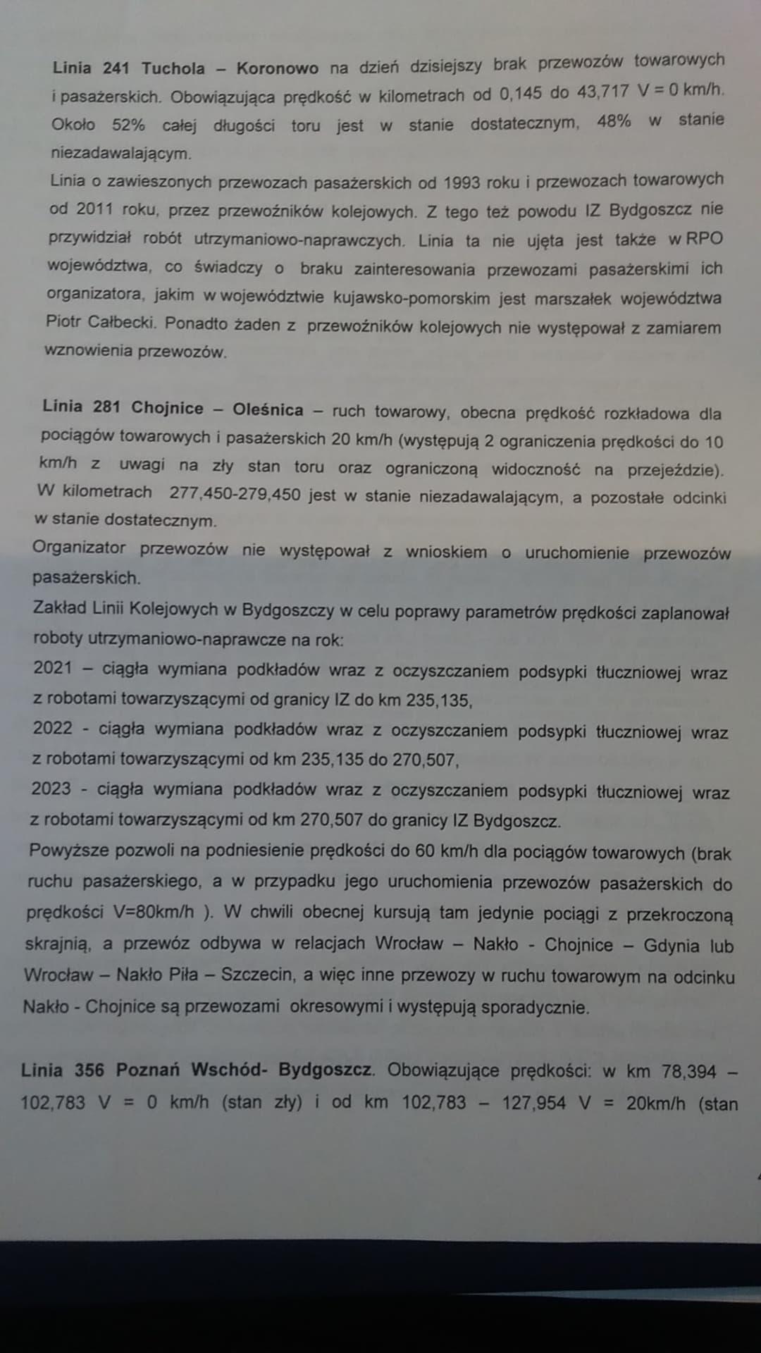 W 2021 roku rusza wywalczony przeze mnie wPKP PLK SA iRządzie RP kompleksowy remont linii kolejowej nr281 relacji Gniezno - Nakło n/Not - Więcbork - Chojnice - pozdrawiam Tomasz Roman Bracka 🇵🇱