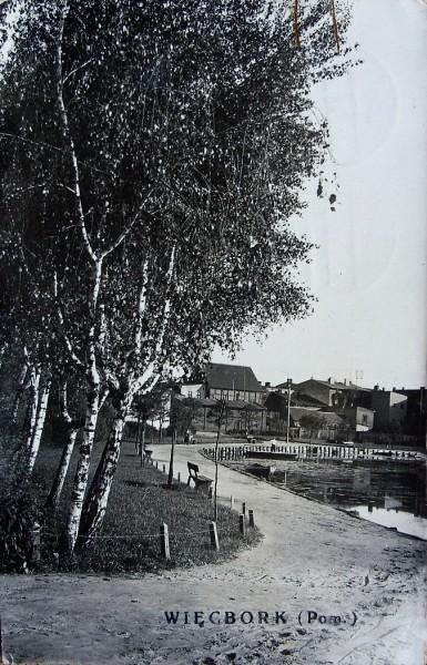 Promenada wWięcborku ponad 100 lat temu - Tomasz Roman Bracka