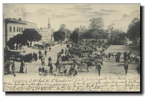 Więcbork Rynek ponad 100 lat temu. Tomasz Roman Bracka