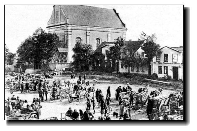 Więcbork Rynek iKościół Katolicki ponad 100 lat temu.- Tomasz Roman Bracka