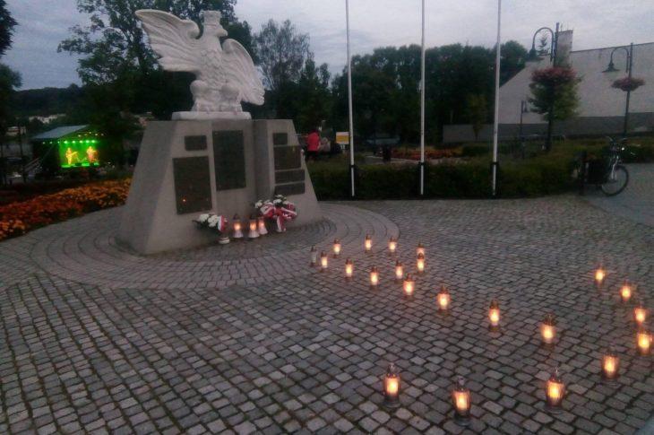 77 rocznica wybuchu Powstania Warszawskiego w Więcborku. foto – Tomasz Roman Bracka