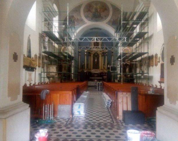 Remont elewacji i fresków w więcborskim kościele katolickim rozpoczęty