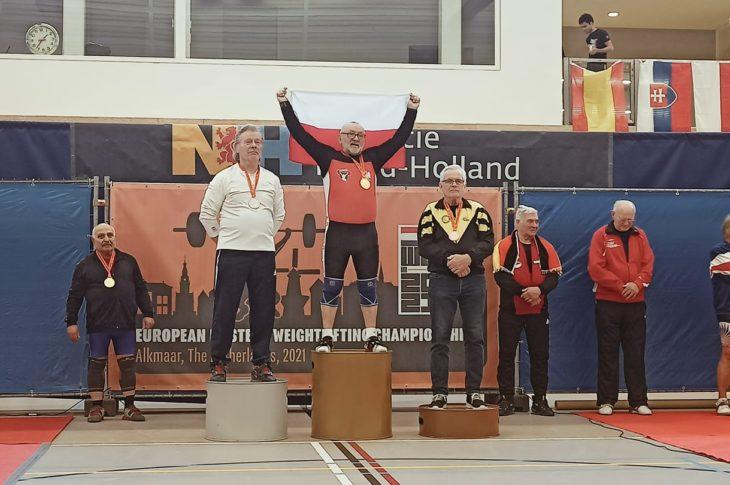 Henryk Dueskau Mistrzem Europy w Podnoszeniu Ciężarów Weteranów w Alkmaar w Holandii w kategorii do 96 kg z wynikiem w dwuboju 146 kg